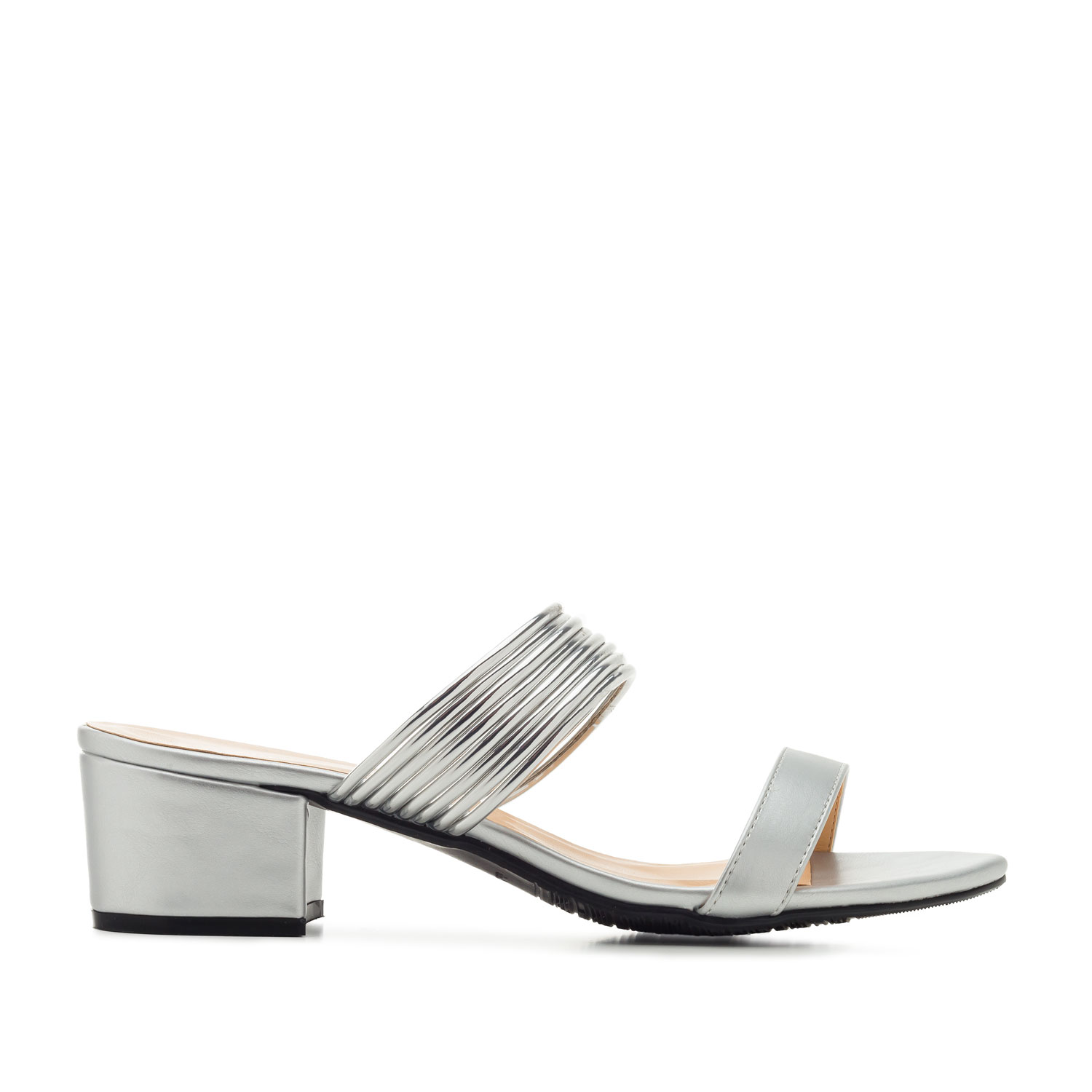 Mule en Soft de color Plata
