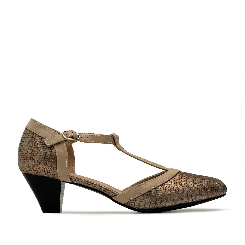 Sandalias estilo Charleston Grabado Bronce