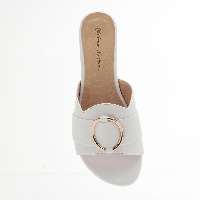 Sandalia Plana en Soft Blanco