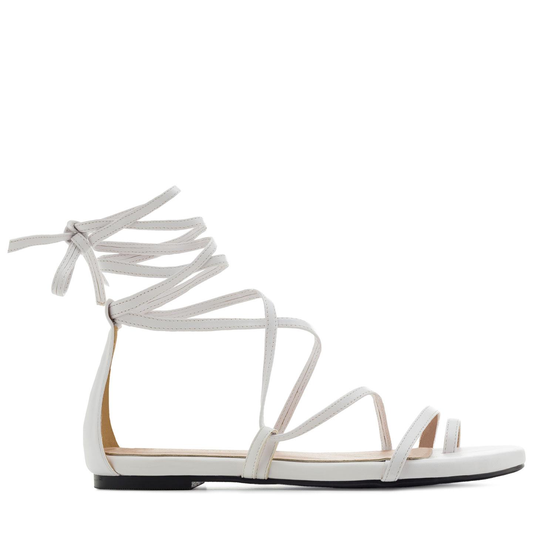 Sandalias Multitiras en Soft Blanco