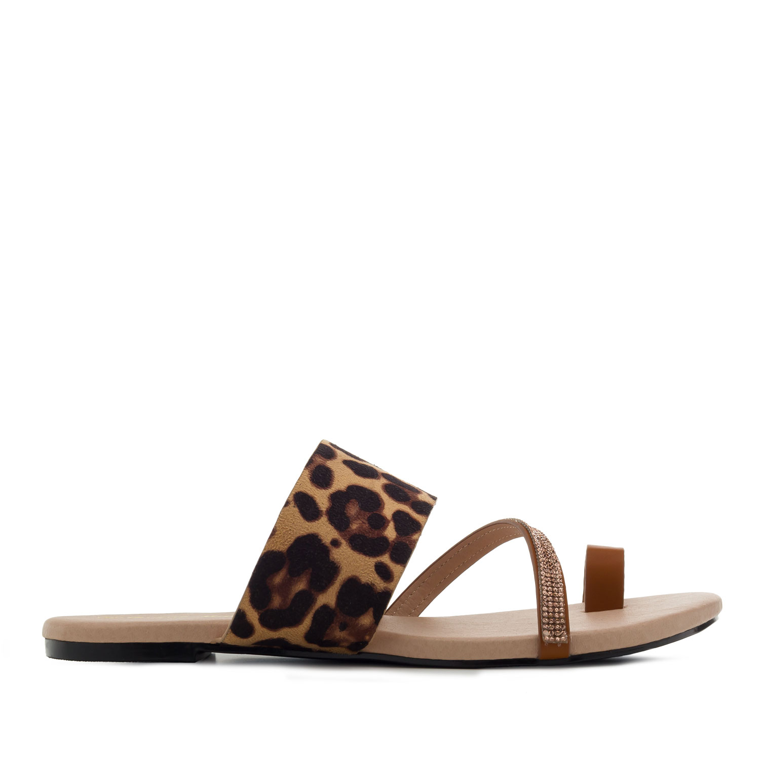 Sandalias Leopardo Marron