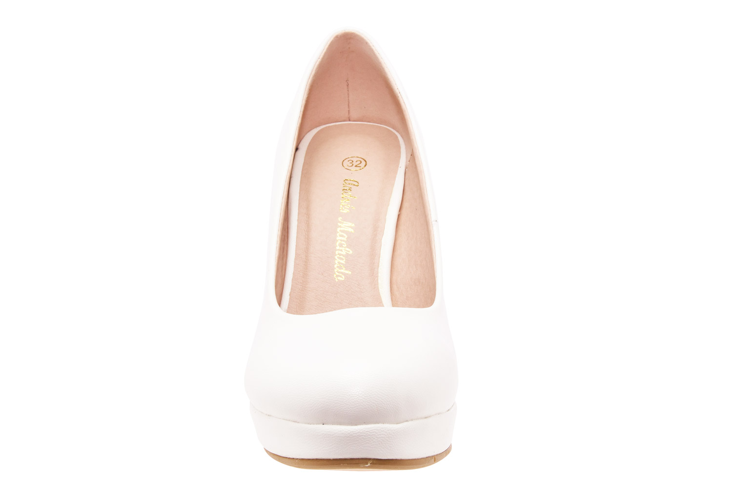 Salones Pumps en Soft Blanco y Tacon Stiletto.