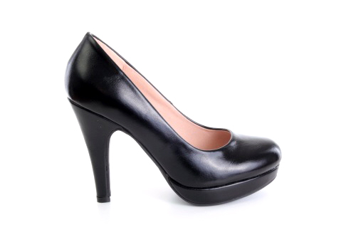 Salones Pumps en Soft Negro y Tacon Stiletto.