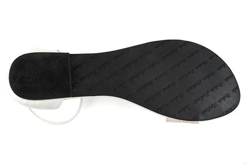 Elegantne sandale sa šljokicama, bele