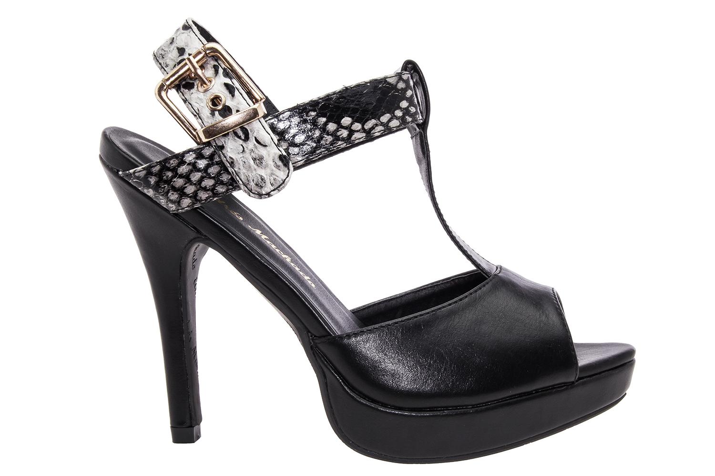 Sandale u Charleston stilu, crne