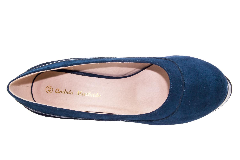 Zapatos en Ante Azul y Plataforma