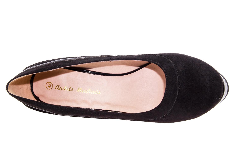 Zapatos en Ante Negro y Plataforma