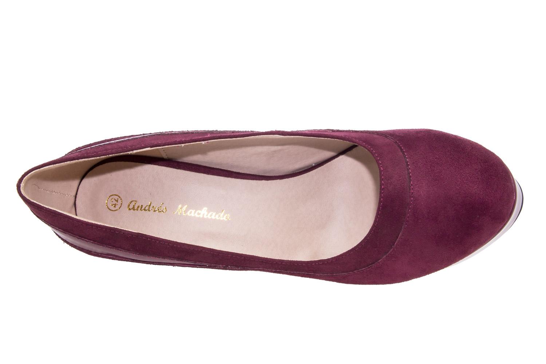 Zapatos en Ante Vino y Plataforma