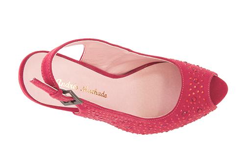 Otvorene cipele na štiklu sa štrasom, crvene