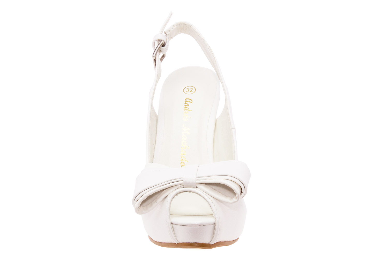 Sandalias Peep Toes en Soft Blanco.