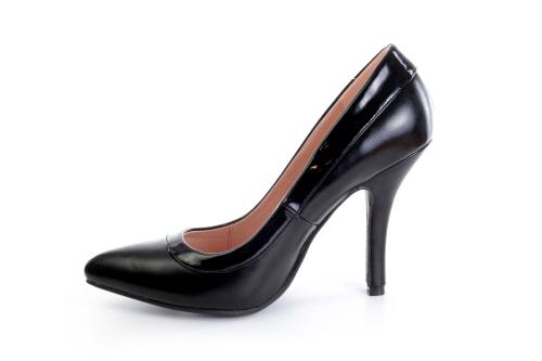 Zapatos Salon combinado Soft Negro y Charol