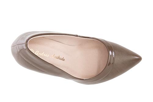 Zapatos Salon combinado Soft Siena y Charol