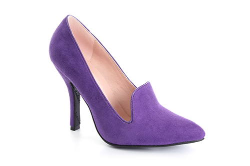 Slipper en Ante Morado con Tacon Stiletto