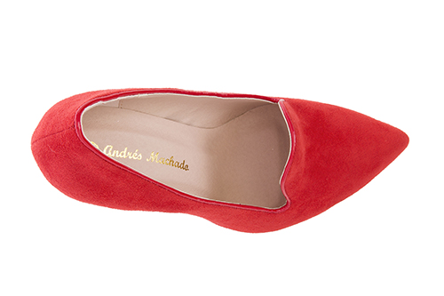 Slipper en Ante Rojo con Tacon Stiletto