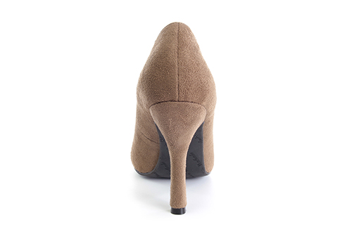 Slipper en Ante Tostado con Tacon Stiletto