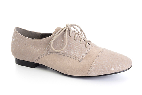 Ravne antilop cipele na pertlanje, bež