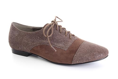 Ravne antilop cipele na pertlanje, braon
