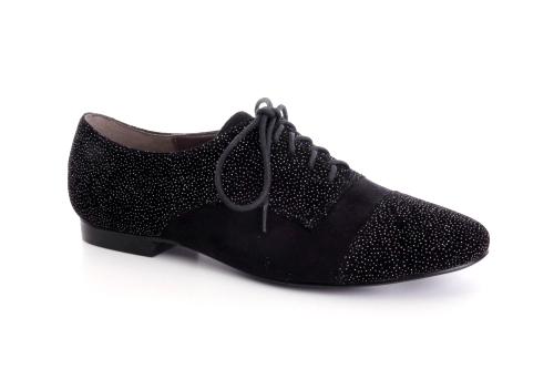 Ravne antilop cipele na pertlanje, crne