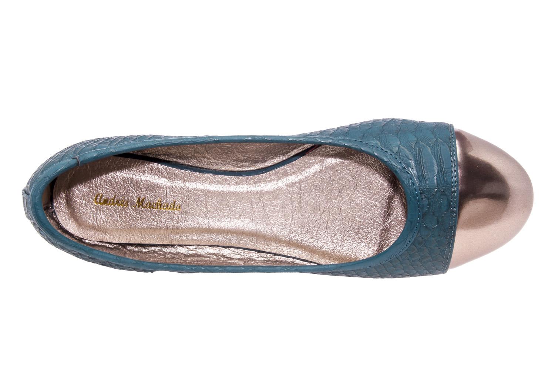 Bailarina en Serpiente Azul y punta Metalizada.