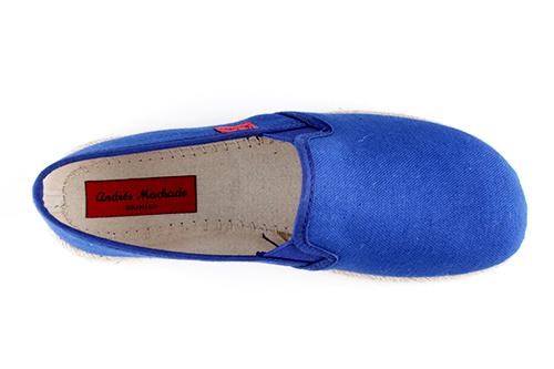 Miticas Zapatillas de Lona Azulon y suela de goma y Yute.
