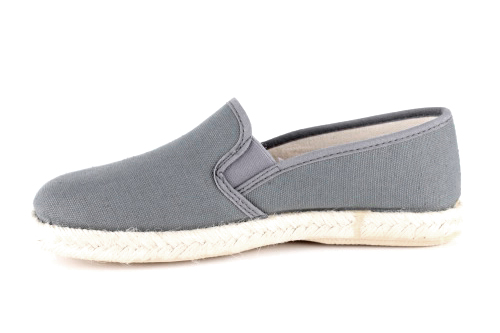 Papuče sa đonom od gume i jute, tamno sive