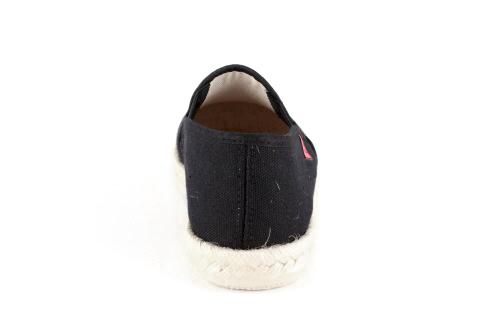 Miticas Zapatillas de Lona Negro y suela de goma y Yute.
