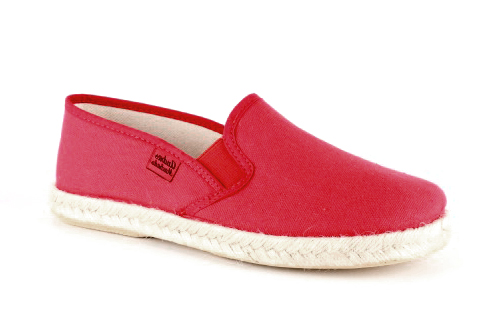 Miticas Zapatillas de Lona Rojo y suela de goma y Yute.
