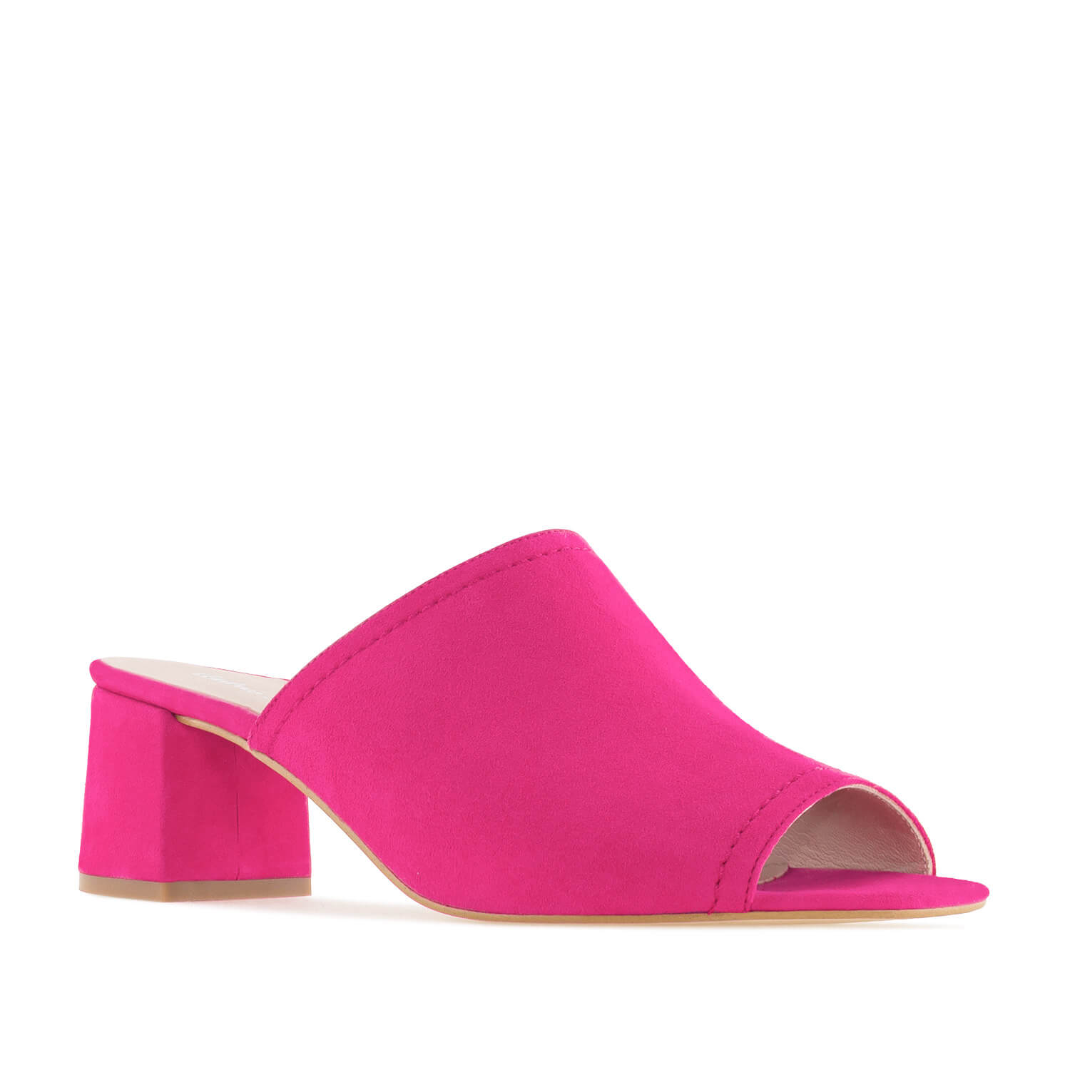 Mules in Fuchsia Suede Leather