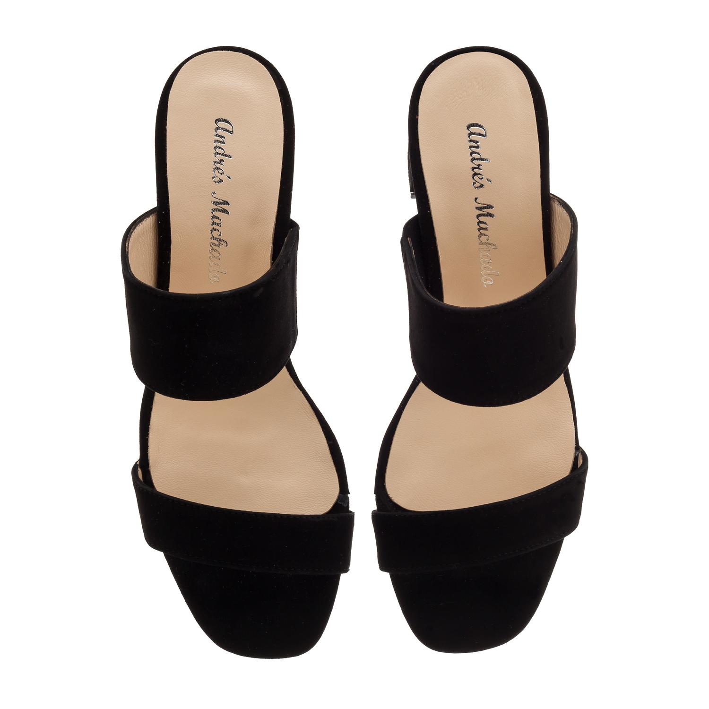 Mule papuče od prirodne kože, antilop crne
