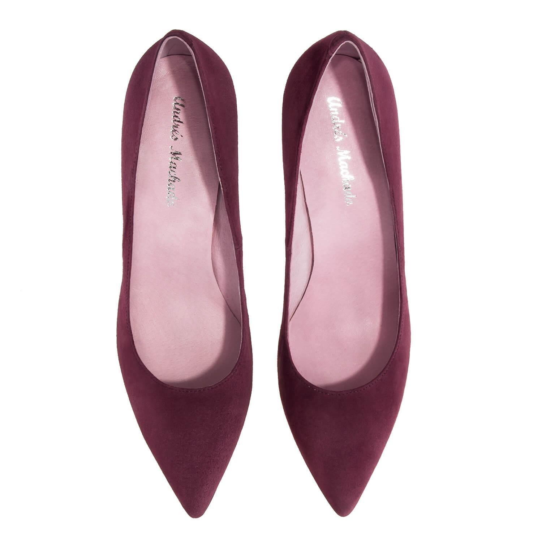 Zapato Tacón de Ante Vino