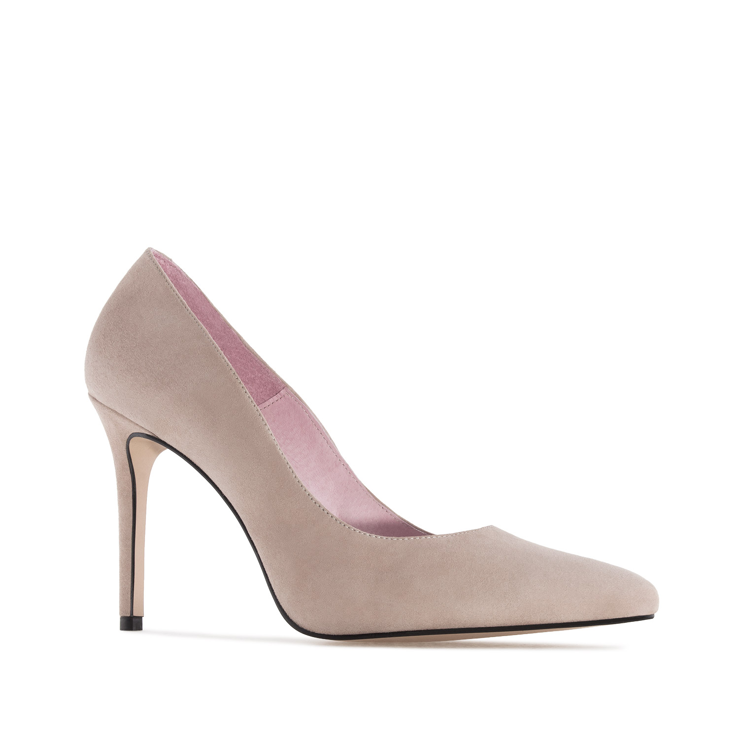 Heeled Shoes in Taupe Suede