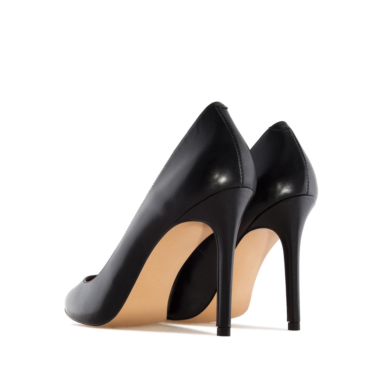 Zapato Tacón de Piel Napa Negro