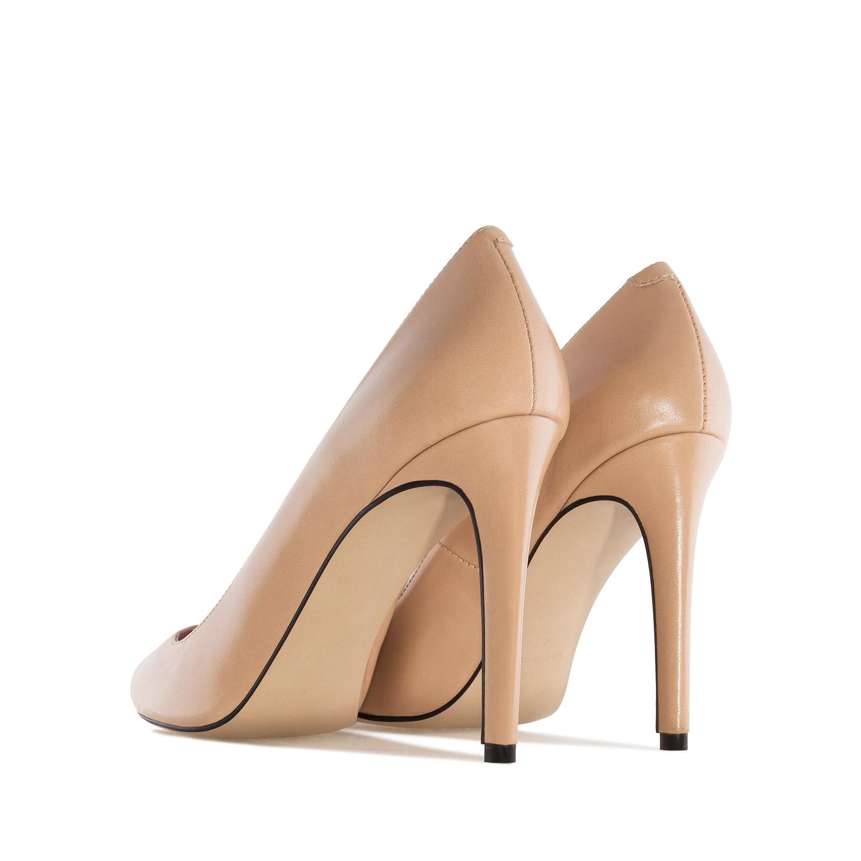 Zapato Tacón de Piel Napa Nude