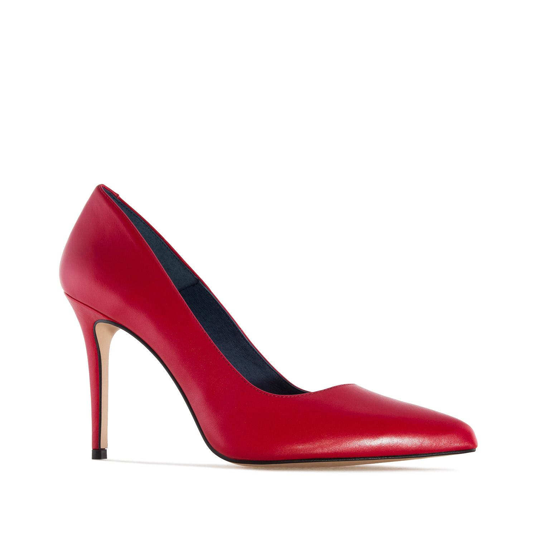 Zapato Tacón de Piel Napa Rojo
