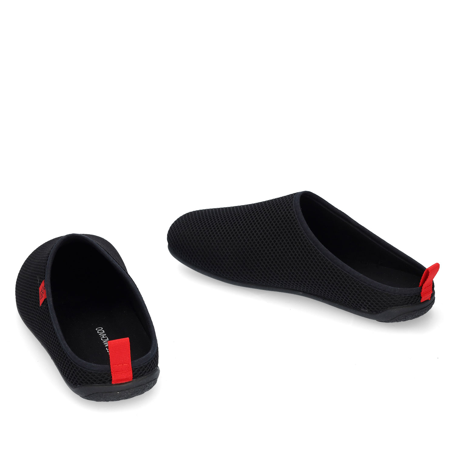 Unisex Slippers in Black mesh with Black outsole