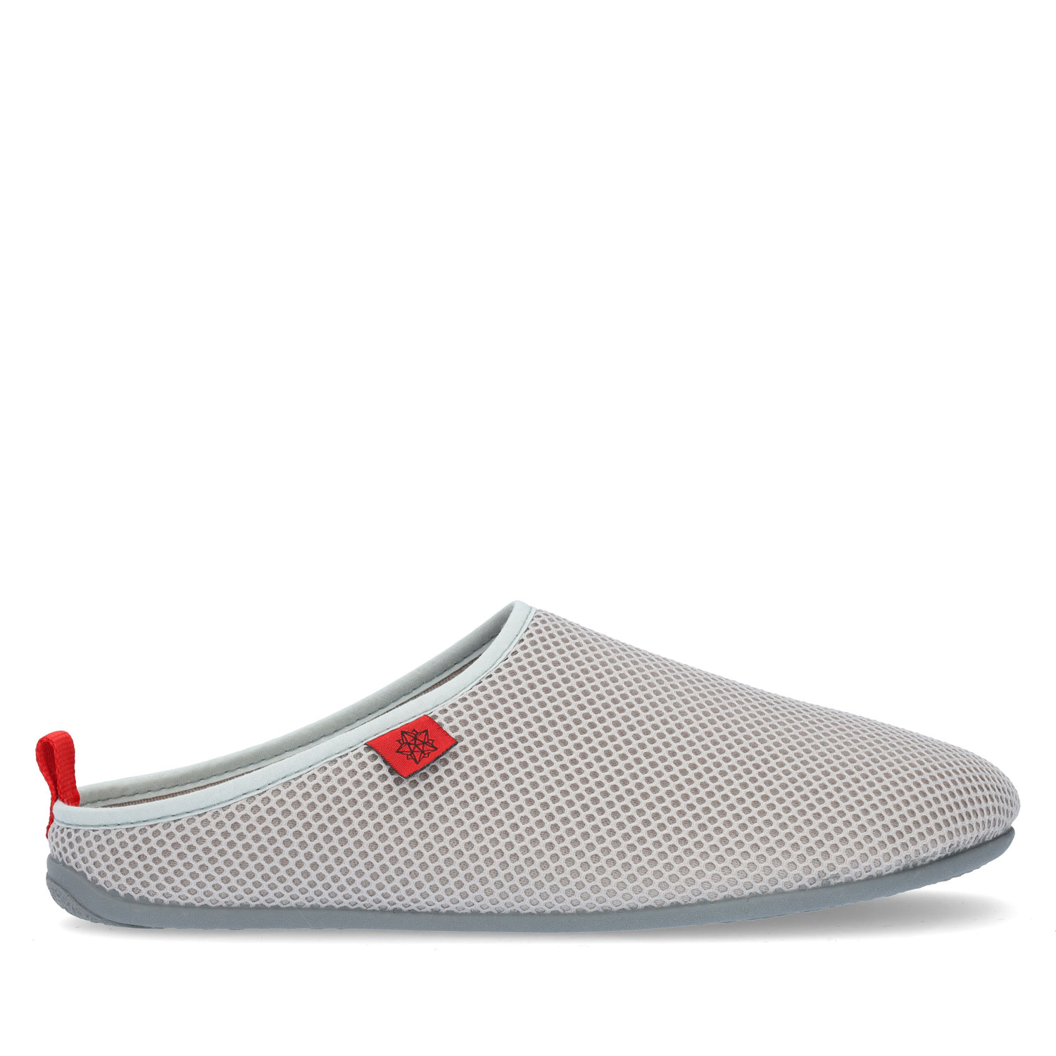 Spring/ Summer Unisex Slippers in Gray mesh with Yellow outsole
