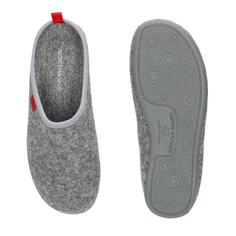 Unisex Grey Felt Slippers