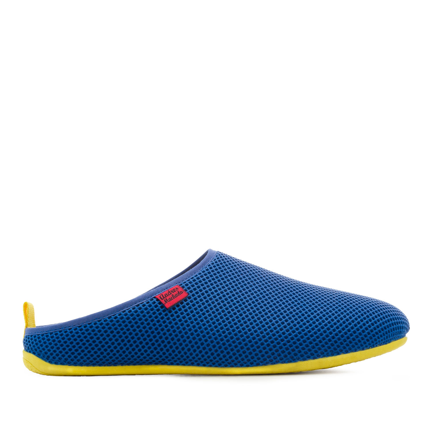 Spring/ Summer Unisex Slippers in Klein Blue mesh with Yellow outsole