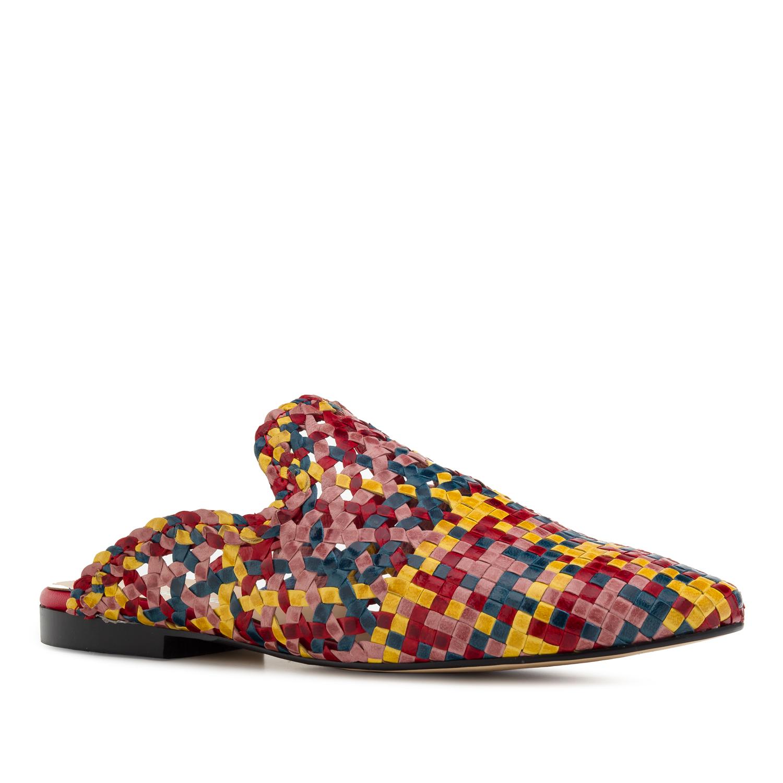 Babouches en cuir Tressé Multicolores