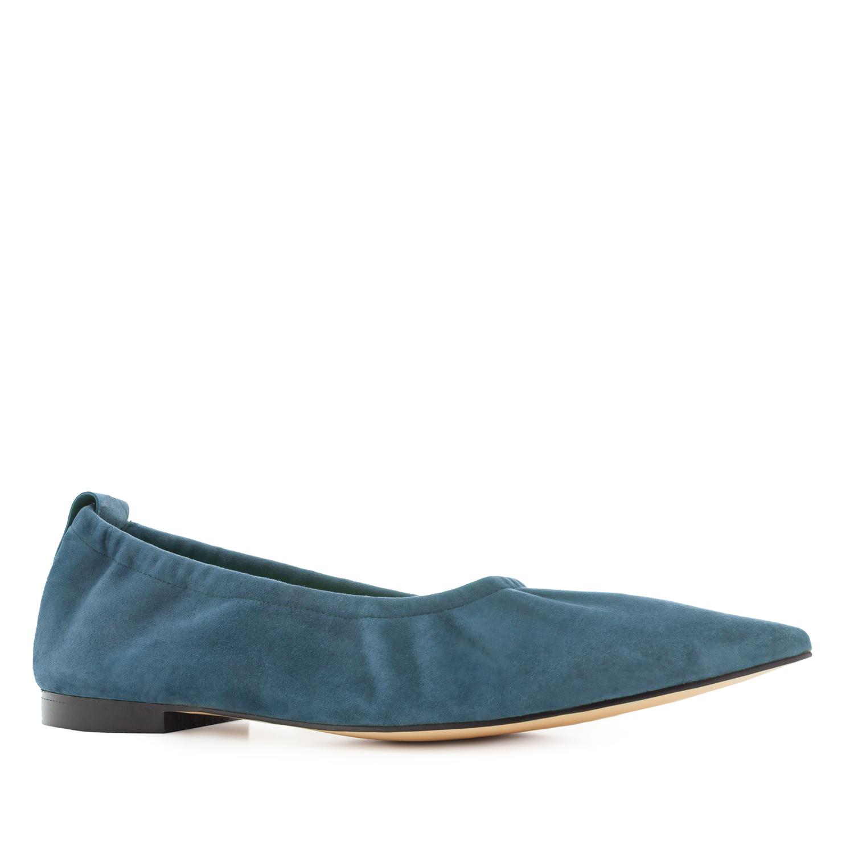 Bailarina Elástica Ante Azul