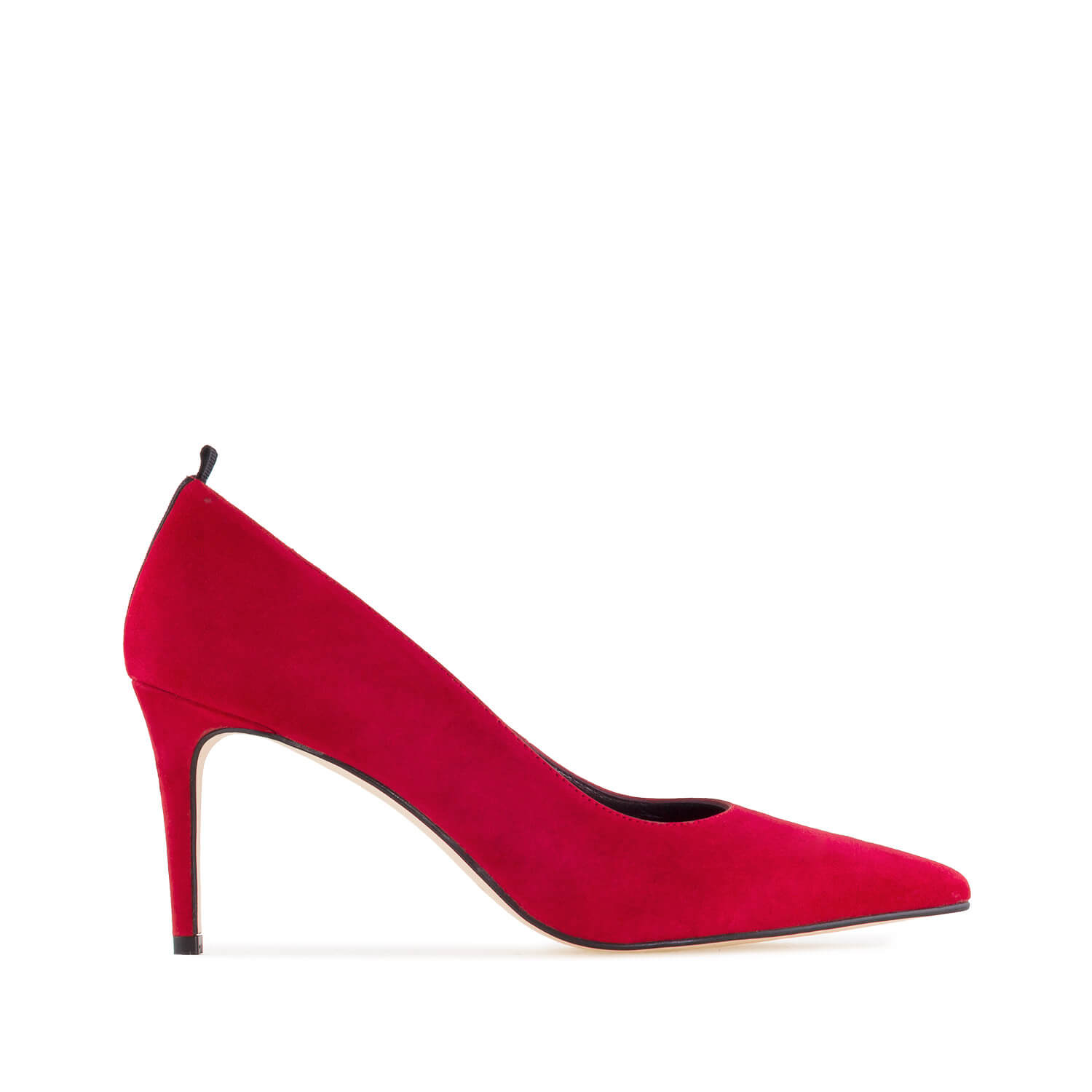 Stilettos in Red Suede Leather