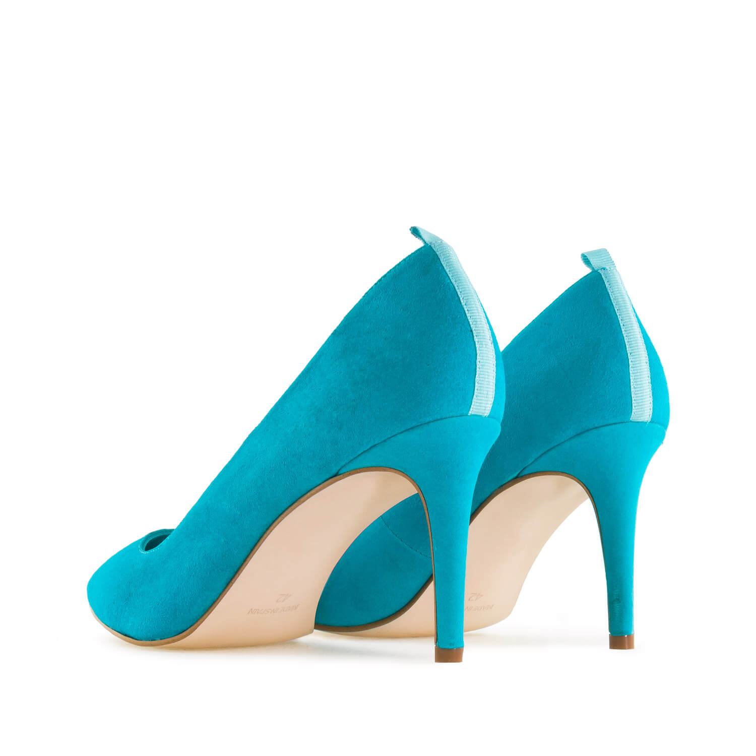 Stilettos in Turquoise Suede Leather