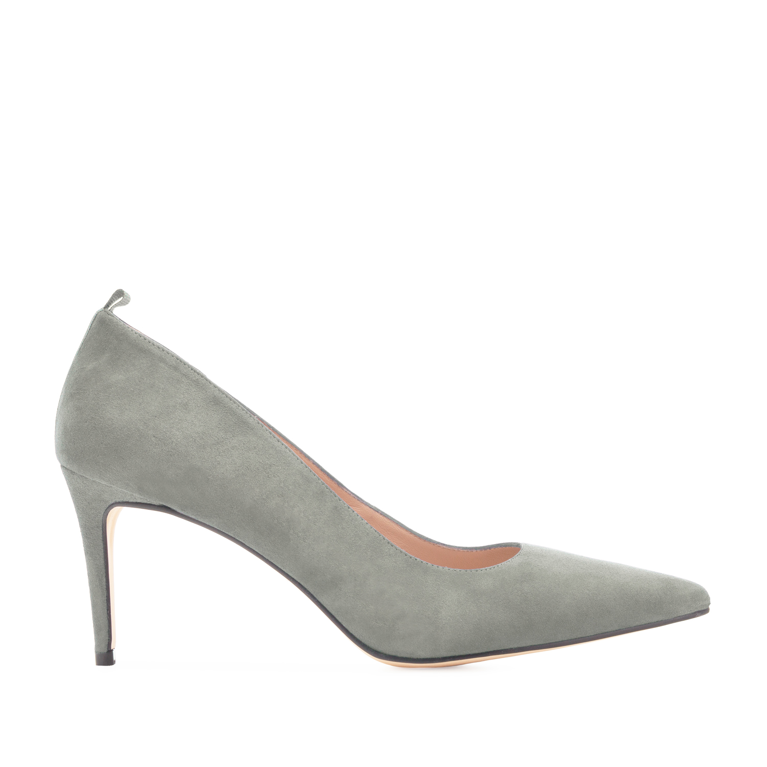Stilettos in Gray Suede Leather