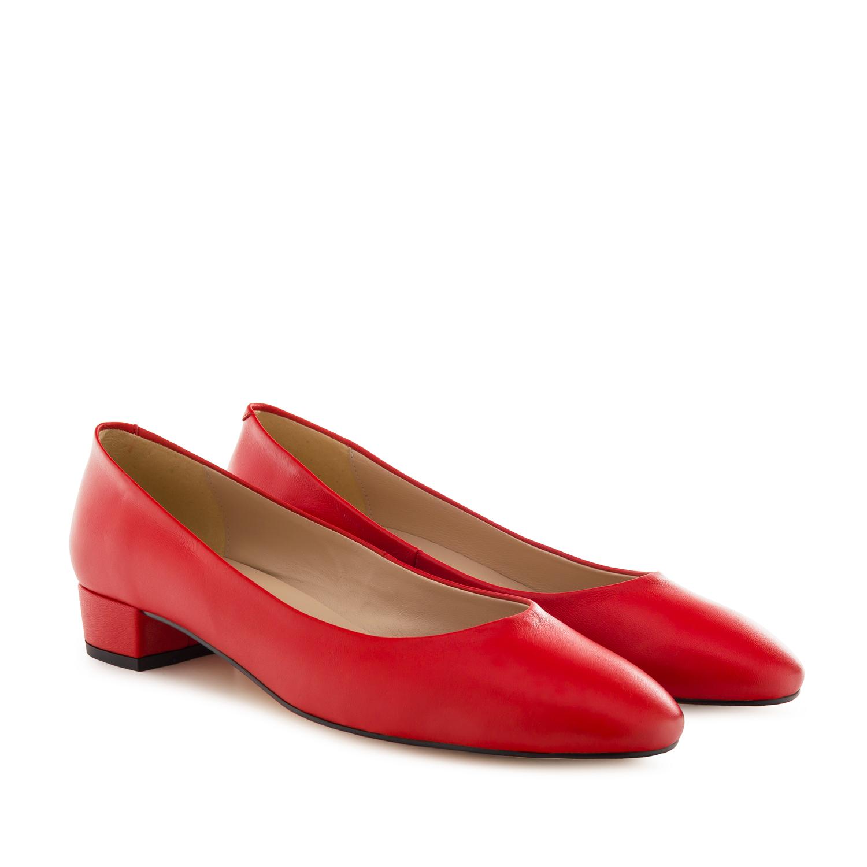 Bailarina Tacón Napa Rojo