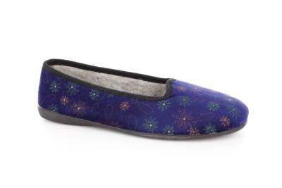 Zapatillas Clasicas Flores Azul