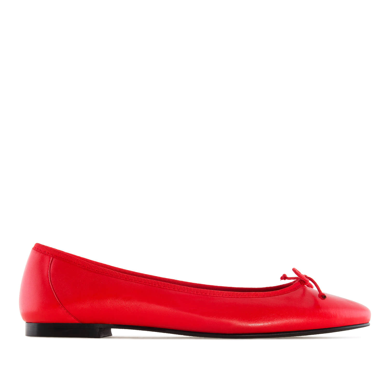 Ballet Flats in Red Leather
