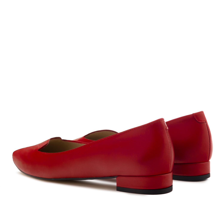 Bailarina Punta Piel Rojo