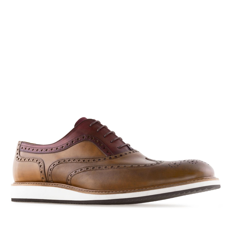 Chaussures Style Oxford en cuir bicolore