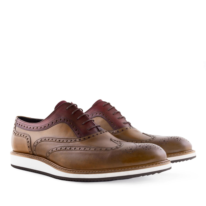 Zapato Oxfort Bicolor en Piel