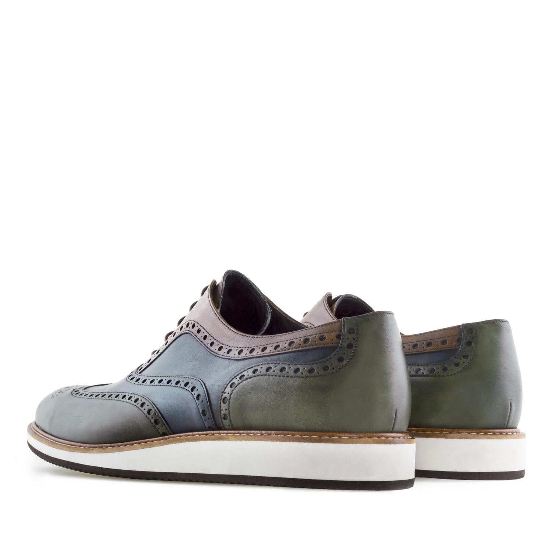 Zapato Oxfort Tricolor en Piel
